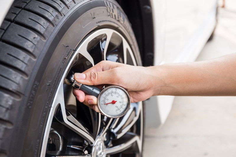 you should check your tire pressure every month